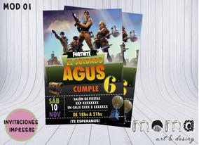 Invitaciones Impresas - Fortnite