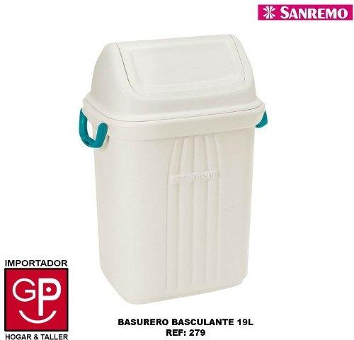 Basurero Basculante San Remo 19 Lts 279 G P
