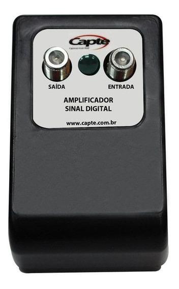 Amplificador De Antena Tv Digital 30db Booster - Capte