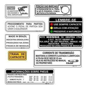 Honda Dream - Adesivo Informativo - Dream - F. Grátis