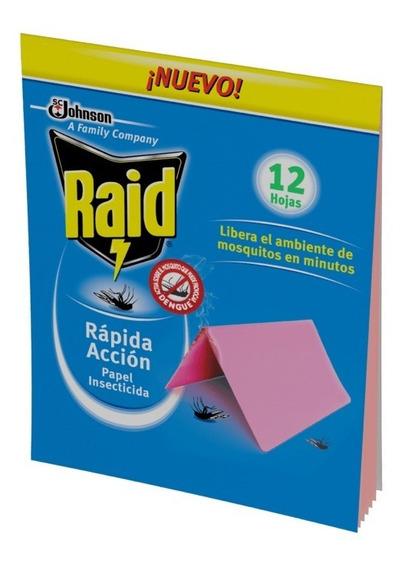 Raid Papel Insecticida Rapida Acción Mosquitos 480 Papelitos