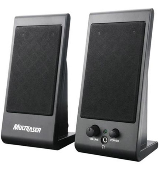 Mini Caixas Speaker Flat 3w Rms Usb Sp009 Multilaser