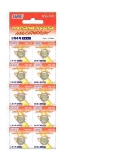 Paquete De 10 Baterias Pila Boton Lr44 1.5v - T1994