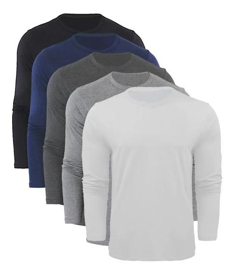 Kit 5 Camisetas Manga Longa Swag - Tecido Confort Line