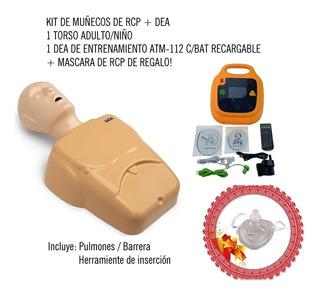 Kit Muñeco De Rcp Adulto/ Niño + Dea Entrenamiento +regalo