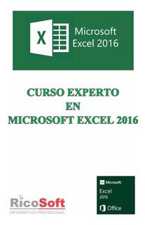 Libro Excel 2016 Experto + Avanzado D Tablas + Manual