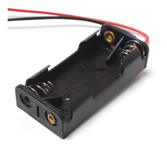Suporte Para 2x Pihas Baterias Aaa Palito 1,5v - Frete Grátis Carta Registrada B030
