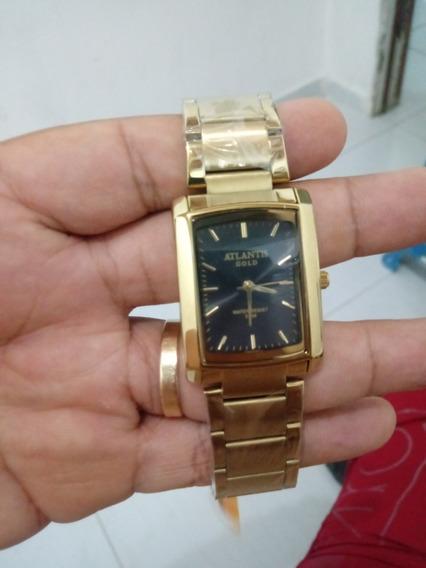 Relógio Atlantis Gold Unissex + Caixa