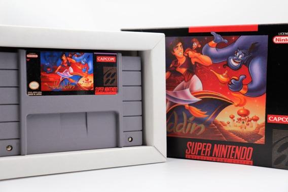 Jogo Aladdin Super Nintendo Snes Famicom Com Caixa E Berço