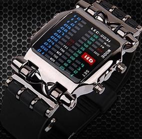Relógio Binário Mostrador Quadrado Digital Led Barato