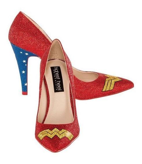 Zapatos Wonder Woman Mujer Maravilla Super Heroe Para Damas