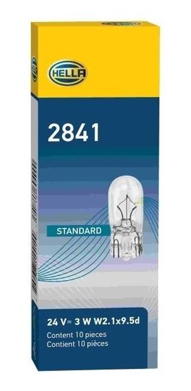 Lampada W3w Esmagada Base Vidro 24v 3w 2841 Pequena