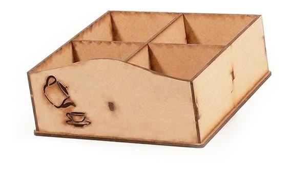 Caja De Té Fibrofácil 4 Divisiones X 12 Unidades - Oferta