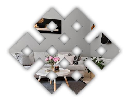 Espelho Em Acrílico Geométrico Abstrato
