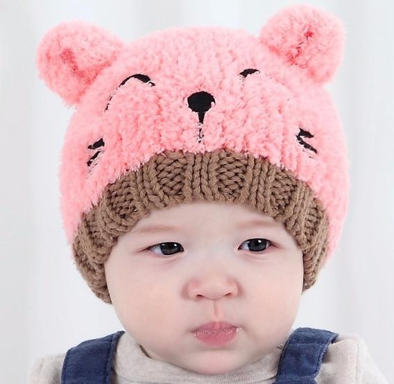 Touca Gorro Gatinho Para Bebê (0 À 12 Meses)