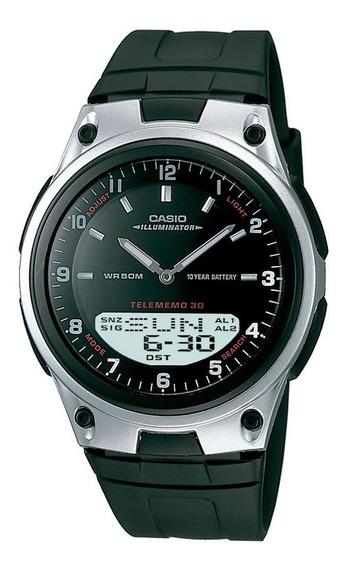 Relógio Casio Masculino Preto Anadigi Aw-80-1avdf