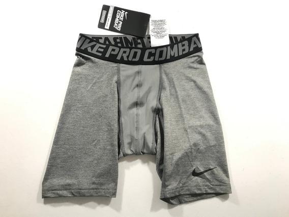 Short Térmico Nike Pro Combate Compression Dri-fit Cinza Ori