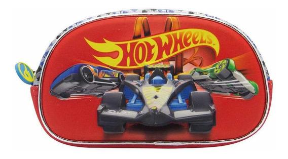 Hot Wheels Cartuchera Canopla 3d 1 Cierre Neoprene Hw185