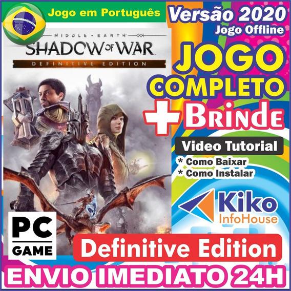 Middle Earth Shadow Of War Definitive Pc Digital Br + Brinde