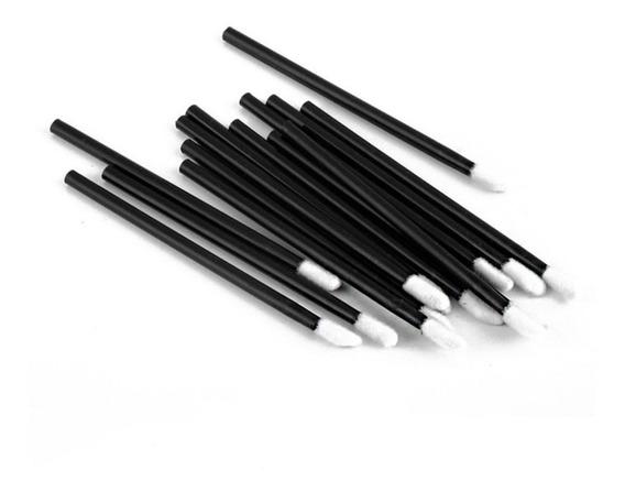 100 Pincel/aplicador Descartável De Batom Gloss