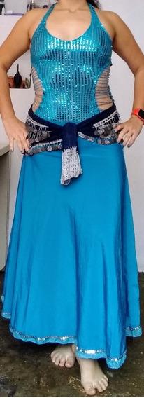 Danza Árabe, Belly Dance Vestido Turquesa (usado)