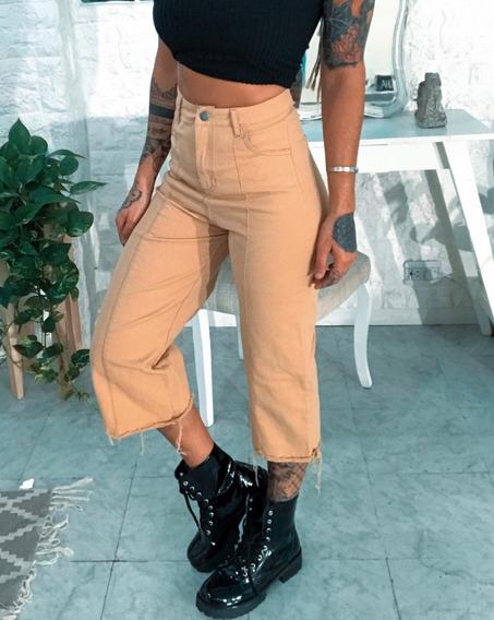 Jeans Elastizado Tiro Alto Excl Calce Dama Mujer Art 6649