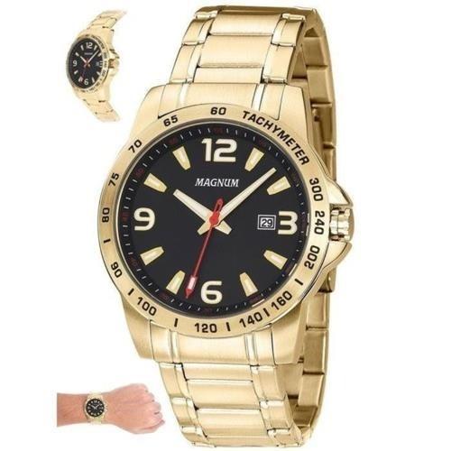 Relógio Magnum Analógico Ma32961u Masculino Dourado