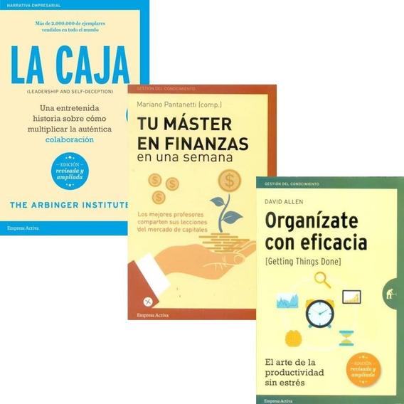 Pack La Caja + Tu Master En Finanzas + Organizate (3 Libros)