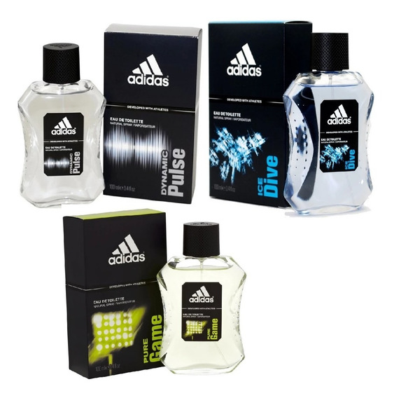 adidas Dynamic Pulse + Ice Dive + Pure Game Edt 100ml