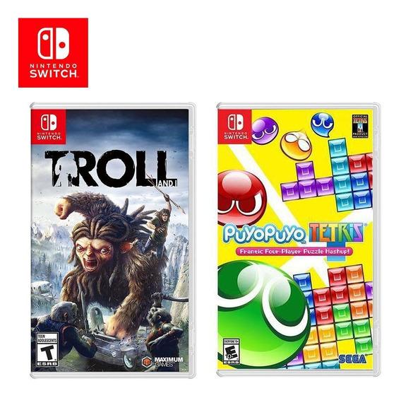Kit Jogos Switch Troll And I E Puyo Puyo Tetris