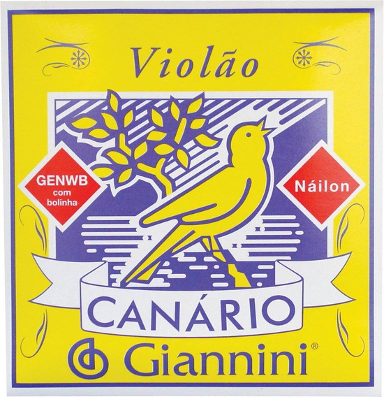 Jogo De Corda Violão - Giannini Canário -- Náilon C/ Bolinha