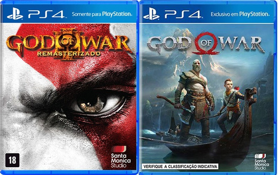 Jogo Mídia Física God Of War 4 + God Of War 3 Para Ps4