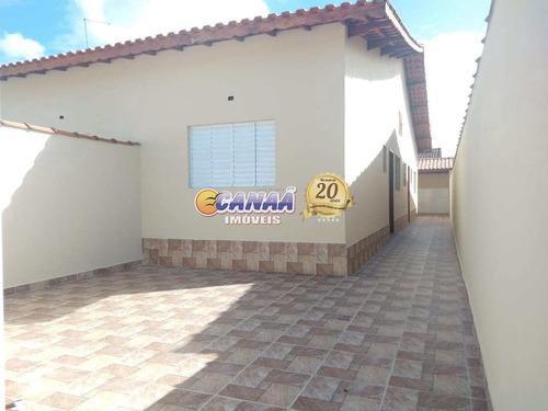 Casa Em Mongaguá 2 Dormitórios, Suíte, Financie - V8154