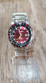 Relógio Atlantis Masculino Prata Original