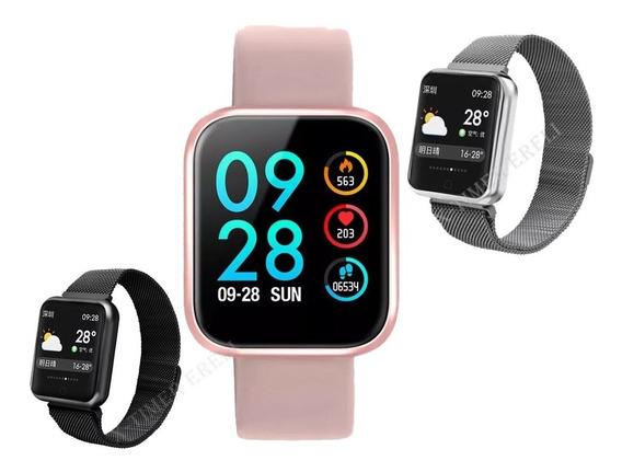 Relógio Smart Watch P70 Batimento Cardíaco C/ Duas Pulseiras