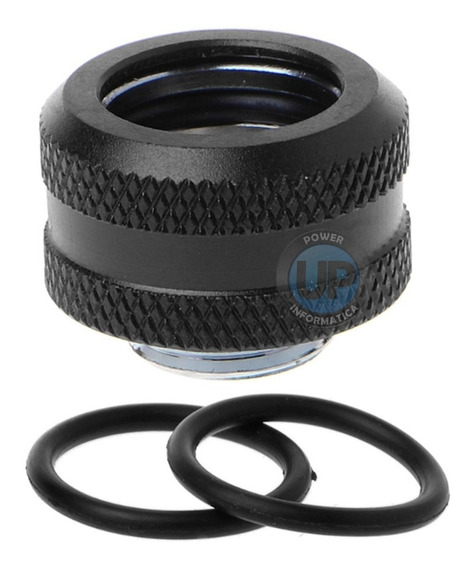 Fitting Compression Preto P/ Tubo 14mm - Water Cooler Custom
