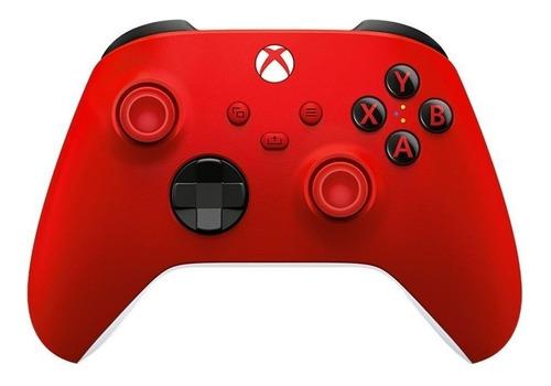 Imagen 1 de 4 de Control joystick inalámbrico Microsoft Xbox Wireless Controller Series X|S pulse red