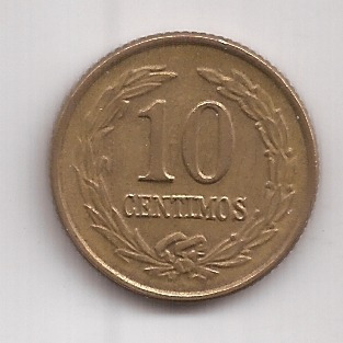 Paraguay Antigua Moneda 10 Centimos Año 1947 Muy Buena