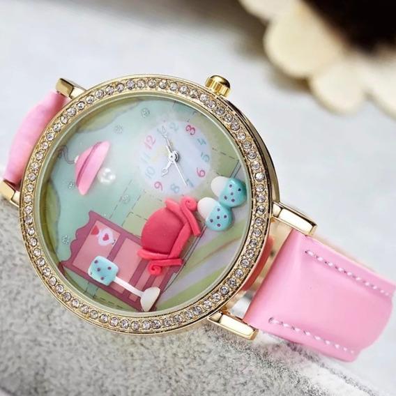 Relojes 3d Vintage Arcilla Para Mujer Dama Envío Gratuito!!
