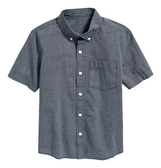 Camisa Niño Manga Corta Cuello Abotonado Estampada Old Navy