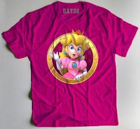 Camiseta Camisa Mario Princesa Peach Luigi Personalizada