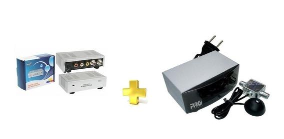 Kit Escravo Ponto Extra Tv Modulador + Extensor De Controle