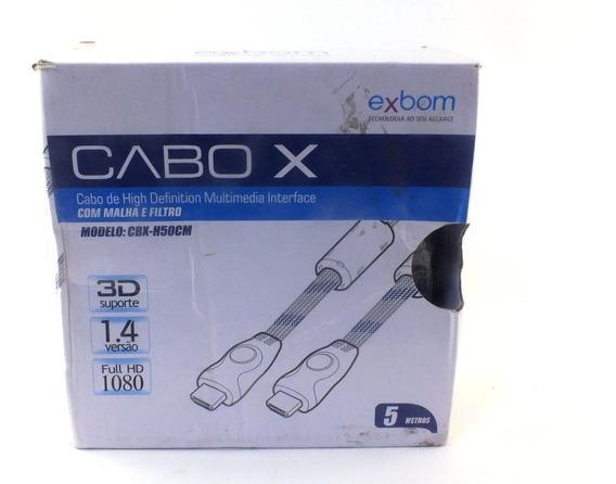 Cabo X Exbom Hmdi X Hdmi Cbx-h50cm Com Malha E Filtro A11550