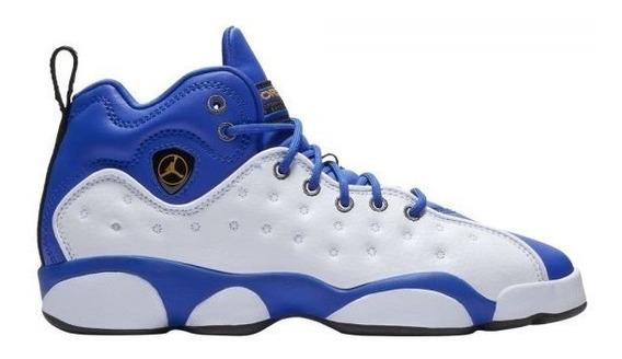 Tenis Nike Jordan Jumpman Team Ii Blanco Y Azul Dama O Jnr