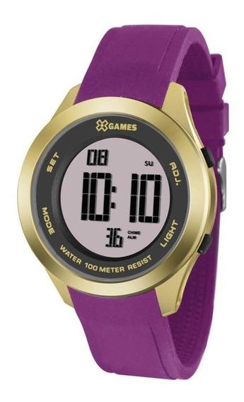 Relógio X Games Feminino Xmppd498 Rxrx Digital Dourado (nf)