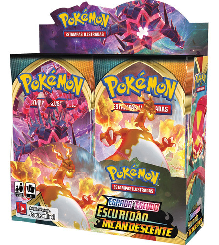 Card Game Pokémon Booster Box Ee3 Escuridão Incandescente