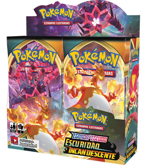 Booster Box Pokemon Escuridão Incandescente 3 Espada Escudo