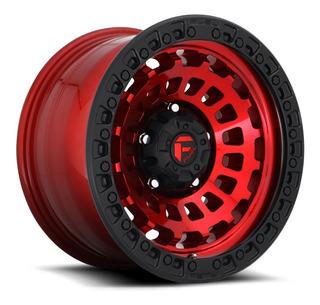 Rines 17x8 5/127 Fuel Zephyr Jeep Rubicon Jk Jl Rojo