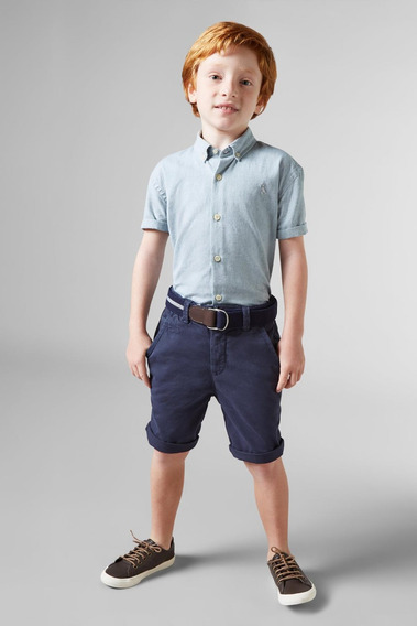 Camisa Mini Oxford Mc Reserva Mini