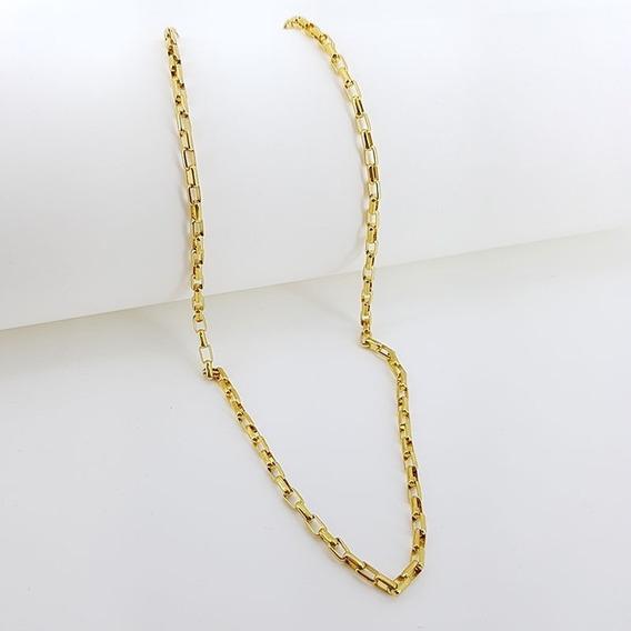 Cordao Corrente Cartier Masculino Banhada A Ouro 18k 60cm